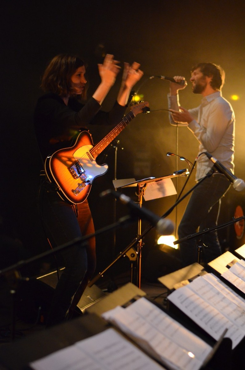 promotion 2015 : Juliette Heilmann arrangement, guitare et direction, Paul Braillard, chant