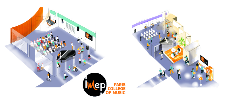l' IMEP Paris College of Music affiche sa nouvelle adresse