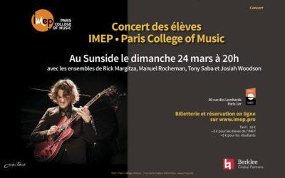 Concert des élèves au Sunside Mars 2019