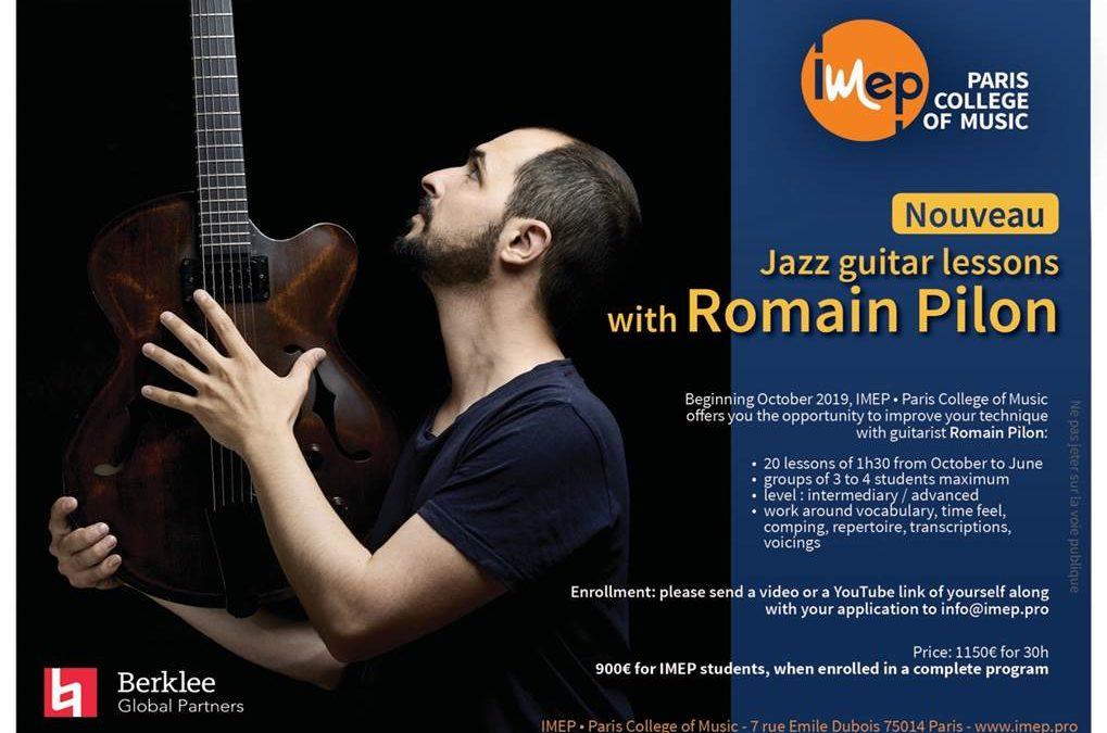 Jazz guitar lessons with Romain Pilon