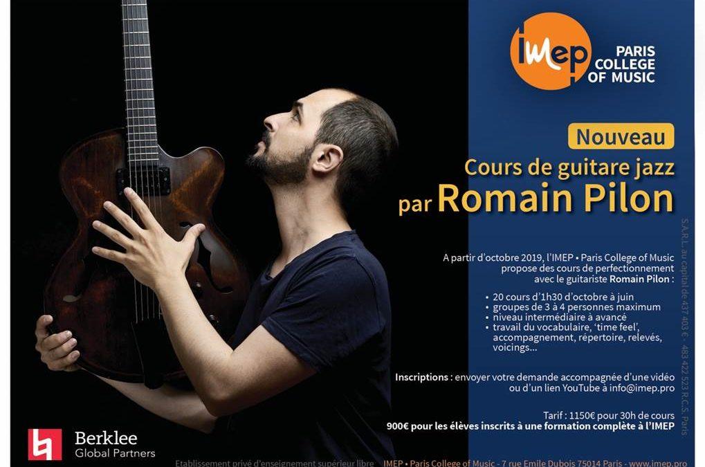 Cours de guitare jazz par Romain Pilon