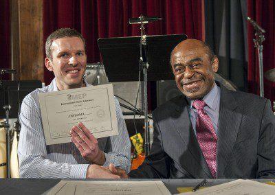 Ari avec Archie Shepp. Promotion 2012