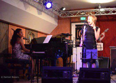 chant piano et basse soirée du cycle libre à l'Improviste à Paris en juin 2014