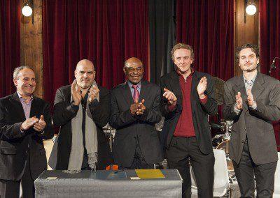 l'équipe pédagogique avec Archie Shepp. Remise des diplômes de la promotion 2012