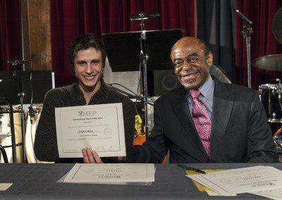 Quentin avec Archie Shepp. Promotion 2012