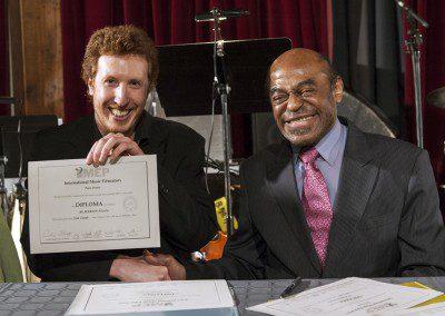 Nicolas Martin et Archie Shepp. Remise des diplômes promotion 2012