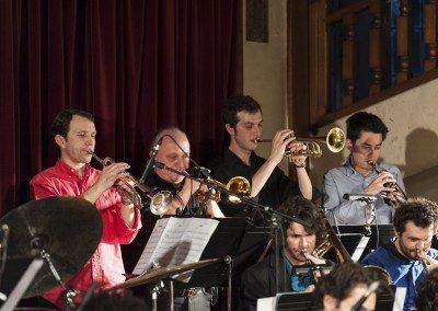 Section cuivres du big band dans la remise des diplômes 2012