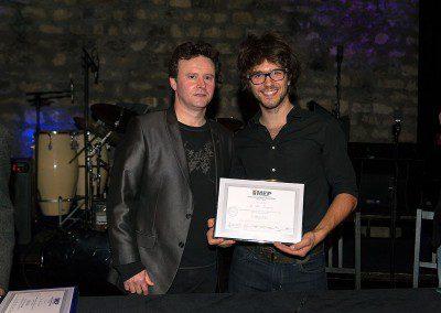 Felix Bourgois avec Sylvain Luc dans la soirée remise des diplômes de la Promotion 2013 de l'IMEP