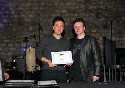 Gustavo Mezo de la promotion 2013 de l'IMEP avec Sylvain Luc