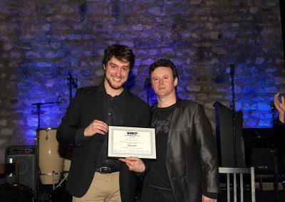 Hugo Rongières de la promotion 2013 de l'IMEP avec Sylvain Luc