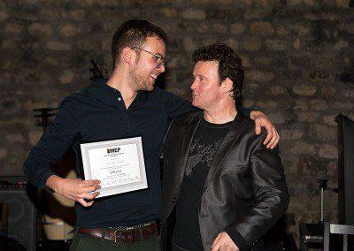 Hugo Sachetti de la promotion 2013 de l'IMEP avec Sylvain Luc