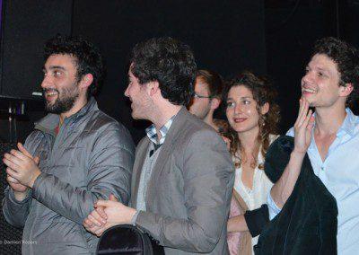 Les élèves dans la soirée remise des diplômes de laPromotion 2013 de l'IMEP avec Sylvain Luc