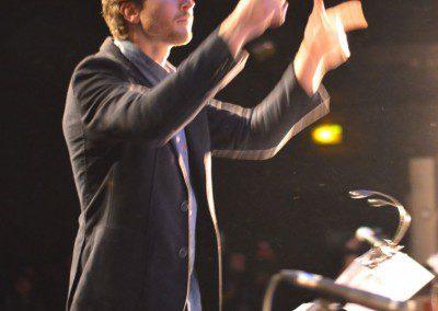 Clément Mollon, ancien élève, dirige le Big Band de l'IMEP dans le cadre de la remise des Diplômes de la promotion 2014