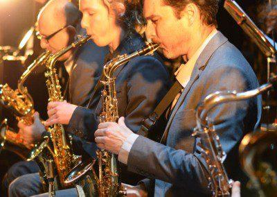 Séction cuivres, les saxophones. Remise des Diplômes de la promotion 2014 de l'IMEP Paris College of Music