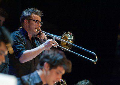 Luca Spiler au trombone. Remise des Diplômes de la promotion 2014 de l'IMEP Paris College of Music