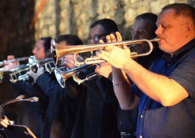 Les trompettistes. Remise des Diplômes de la promotion 2014 de l'IMEP Paris College of Music
