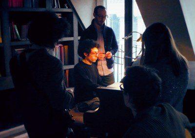 Les élèves de l'IMEP dans la masterclass avec le pianiste Yaron Herman