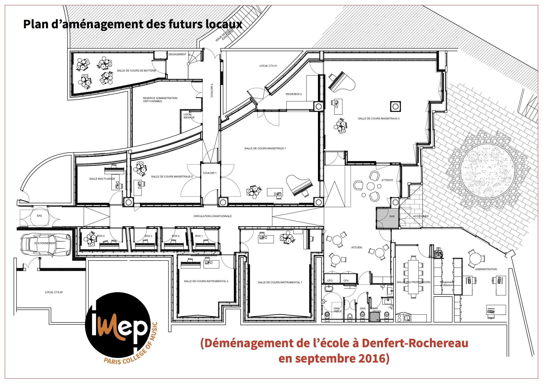Demenagement IMEP Paris College of Music, locaux en travaux
