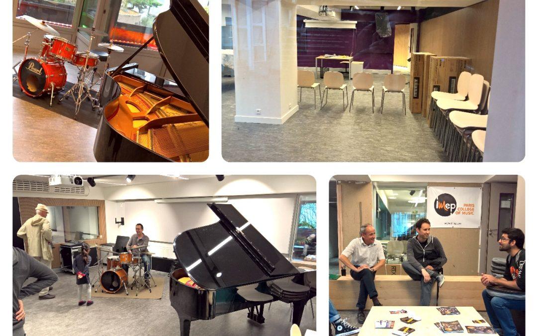 Rentrée dans les nouveaux locaux de l' IMEP Paris College of Music