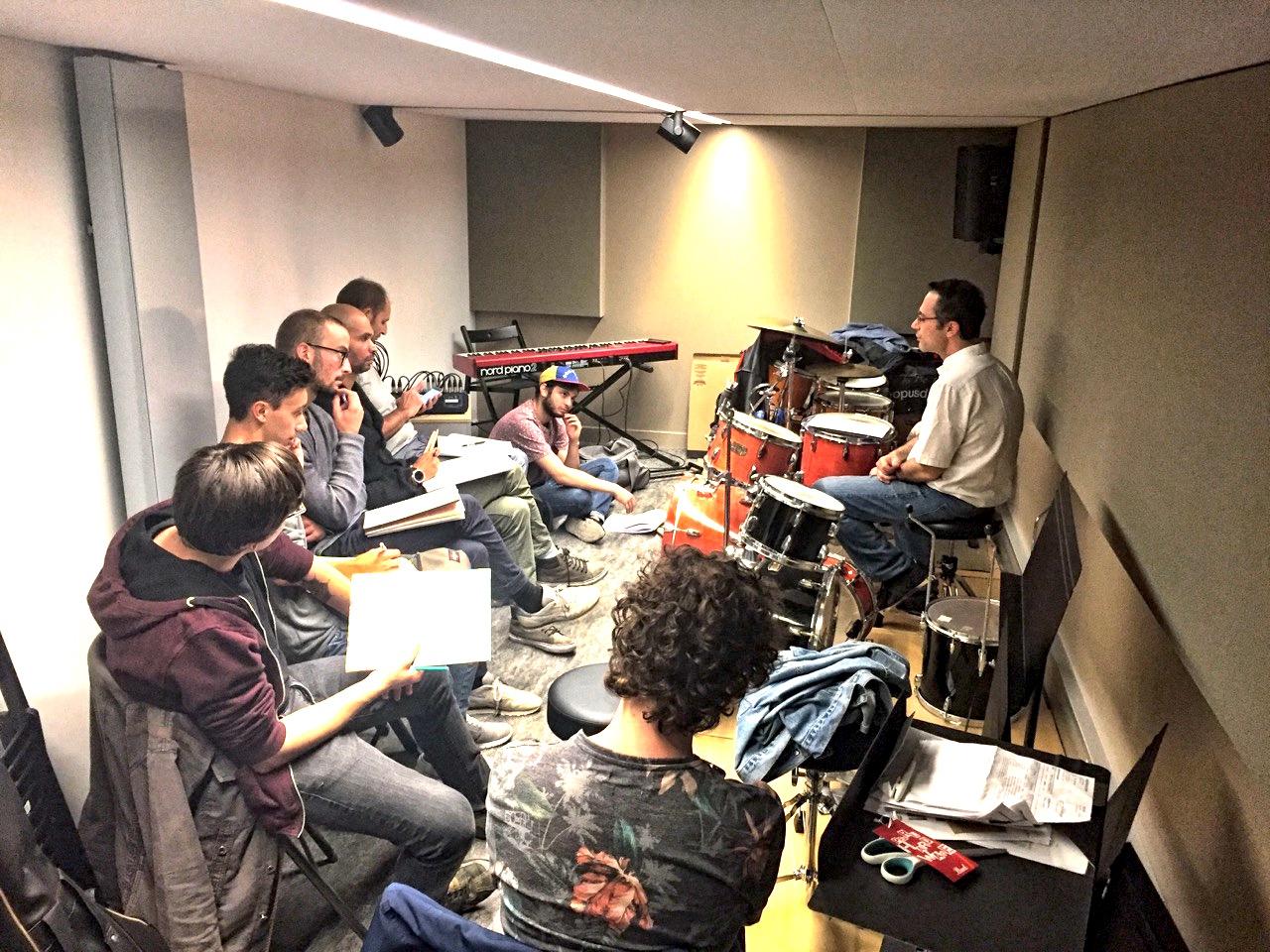 IMEP Paris College of Music, 1er cours réservé aux batteurs au Studio C