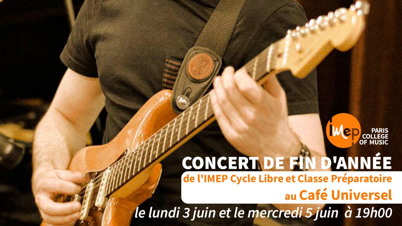 imep au cafe universel concert de fin d'année cycle libre 2019