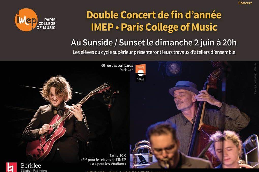 Concert fin d'année au sunset sunside paris 2019