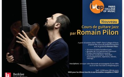Cours de guitare jazz par Romain Pilon