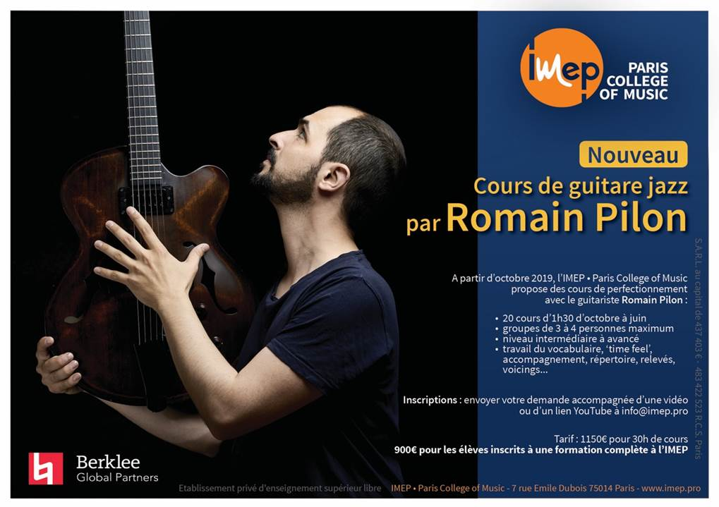 romain pilon cours de guitare jazz