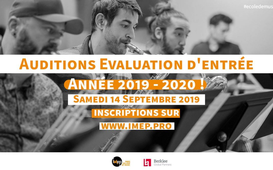 COMPLET : Auditions evaluation rentrée 2019-2020