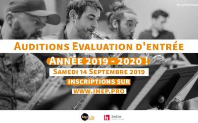 Audition evaluation d'entrée année 2019 2020