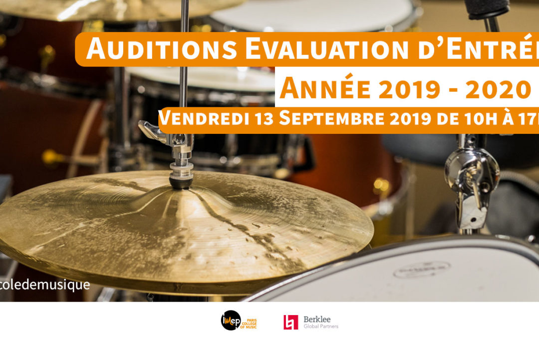 Audition 13 septembre 2019. Rentrée 2019-2020