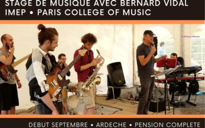Stage de musique de Bernard Vidal :Les auditions sont ouvertes!