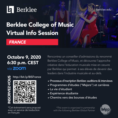 Berklee : Réunion d'information sur les admissions