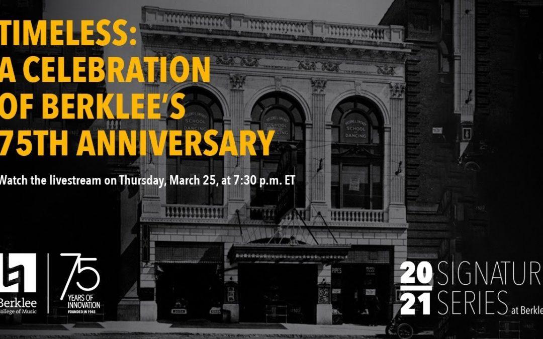75 ans anniversaire de Berklee