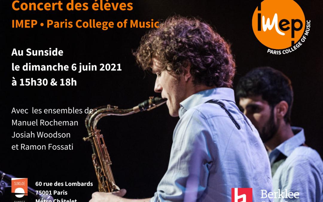 Concert des élèves au Sunside dimanche 6 juin !